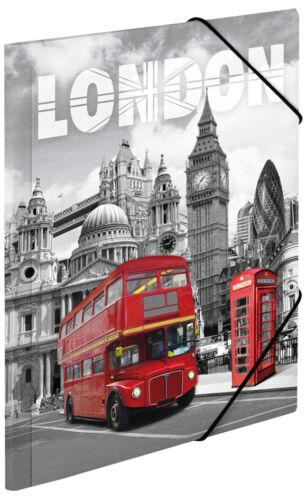 """HERMA Eckspannermappe /""""Trendmetropolen London/"""" PP A4"""