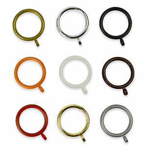 Plastic-Curtain-Rings-for-28mm-Poles-9-Colours-Many-Discount-Pack-Sizes