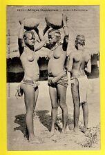 cpa Postcard AFRIQUE OCCIDENTALE Jeunes MALINKÉES Seins nus Girls Breast Nude