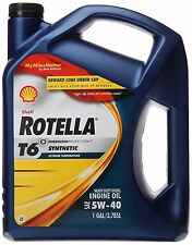 Shell Rotella (550019921) T6 5W-40 Full Synthetic Heavy Duty Diesel Engine Oi...