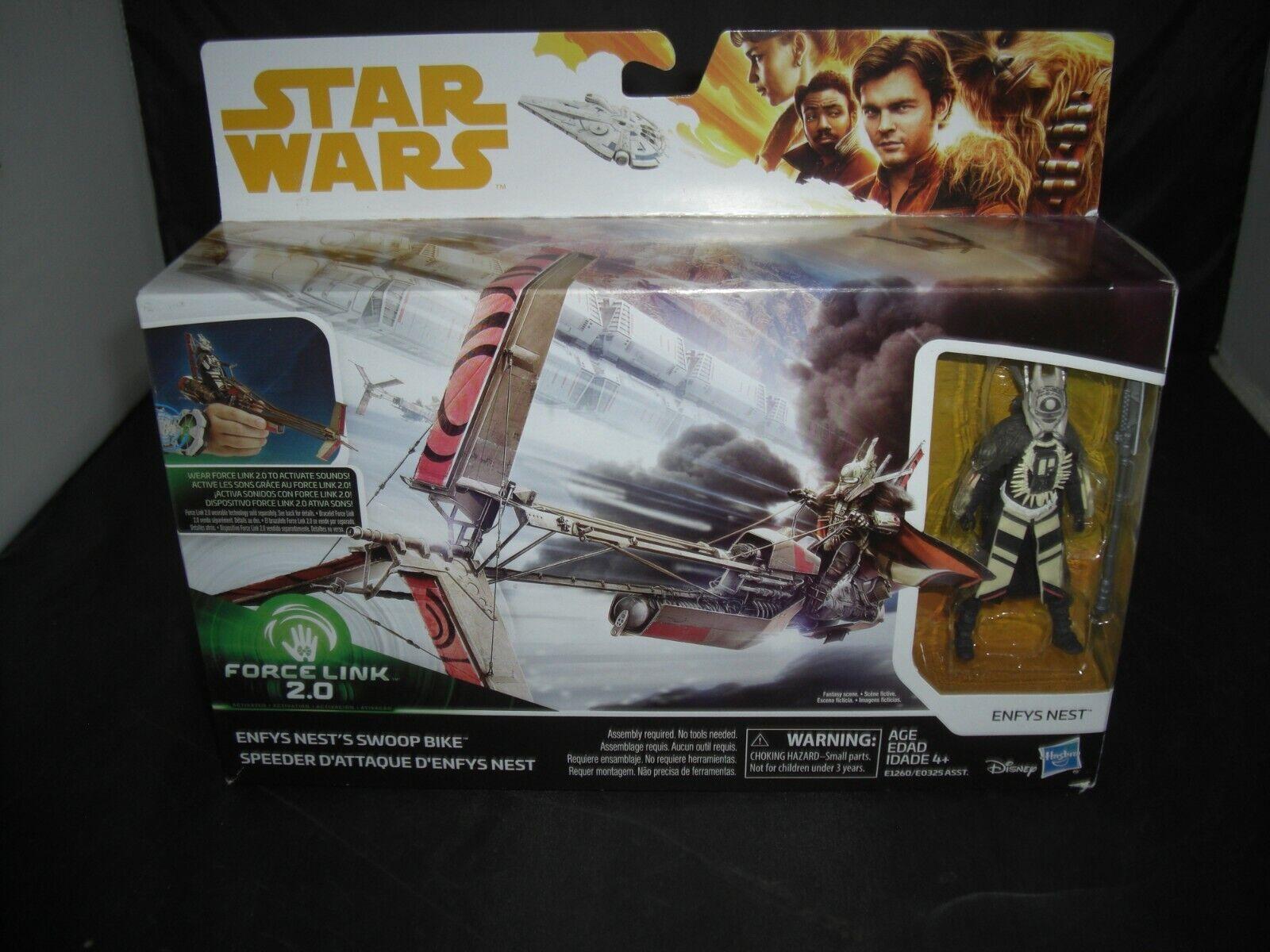 "Star Wars SOLO STORY Force Link 2.0 LOOSE 3.75/"" Figure ENFYS NEST no swoop bike!"