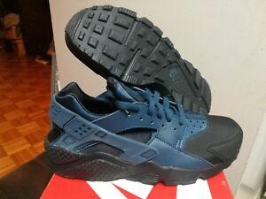 c2a8866ee1b5 Men s Nike Air Huarache PRM Black Squadron Blue 704830 004 Size 9