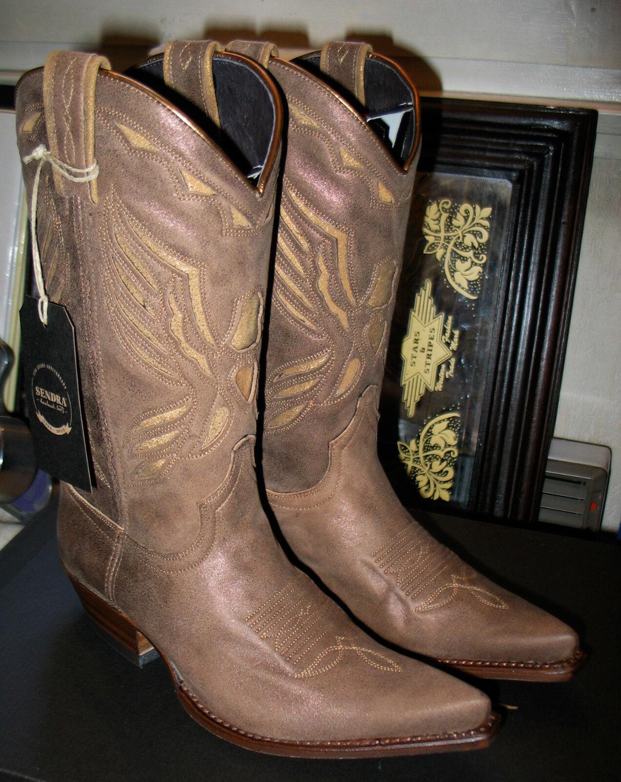 10929 Bottes Sendra bottes western Couleur marron antique Superbe promo