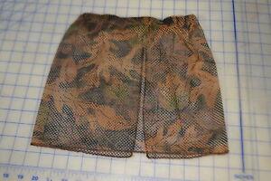 camo tru-leaf hunting turkey face mask half w/elastic band cover mesh fall brush