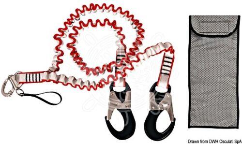 Osculati Safety Line Y Shape 2+1m Snap hooks