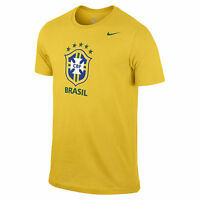 Nike Brazil - Brasil World Cup Wc 2014 Soccer Core Badge Fan Shirt Yellow