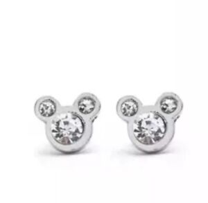 Disney-Mickey-Mouse-Diamante-Earrings-Wedding-Birthday-Xmas