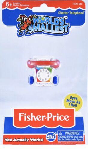 Super Impulse UK Stock Worlds Smallest Fisher Price Chatter Phone