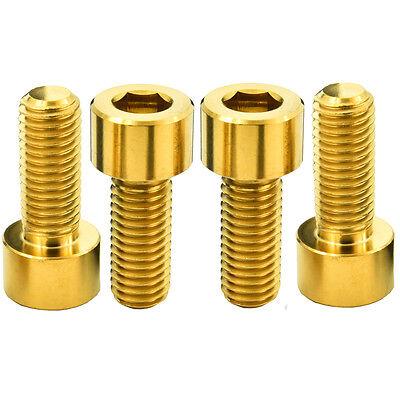 10 Pcs M8x20x1.25 Gold Cycling Titanium Allen Hex Socket Cap Head Bolts Screw