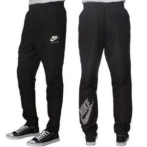 mens new nike skinny fit tracksuit jogging bottoms joggers track pants black ebay. Black Bedroom Furniture Sets. Home Design Ideas