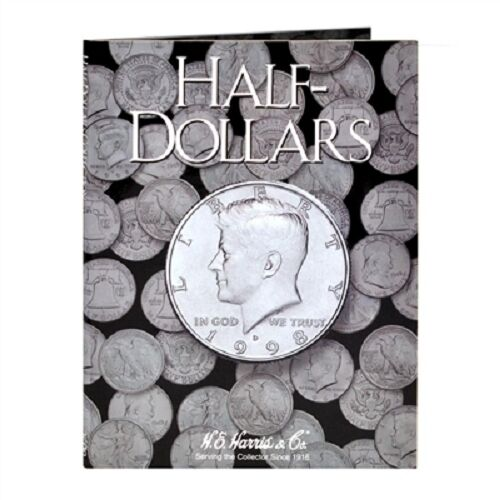 Harris Coin Folder # 2698 half dollar plain no printing halves H.E