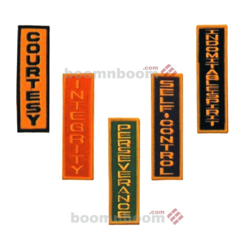 NEW 5pc Set Embroidered Patches Martial Arts Patches-The Spirit of Taekwondo