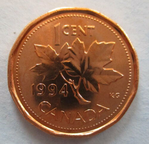 1994 CANADA 1¢ BRILLIANT UNCIRCULATED PENNY COIN