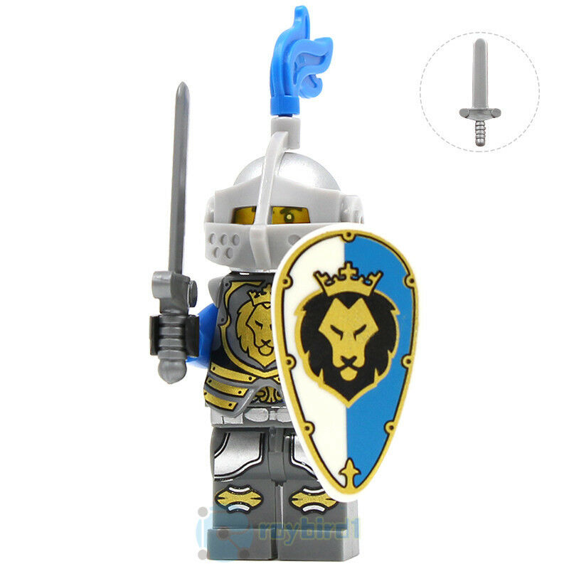 21PCS Medieval EUR Castle Lord Knight Paladin Ranger Army Building Block DIY Toy