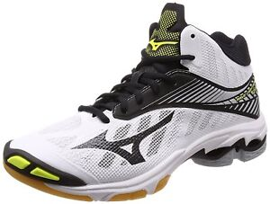 buy popular df0d9 52fd8 Image is loading MIZUNO-Volleyball-Shoes-Wave-Lightning-Z4-MID-White-