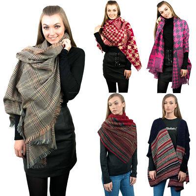 Ladies Morbida Sciarpa Designer Spessa Calda Sciarpa Grande Wrap Sciarpe Scialle-mostra Il Titolo Originale Con Le Attrezzature E Le Tecniche Più Aggiornate
