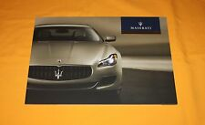 Maserati Quattroporte 2013 Prospekt Prospetto Brochure Depliant Catalog Prospect