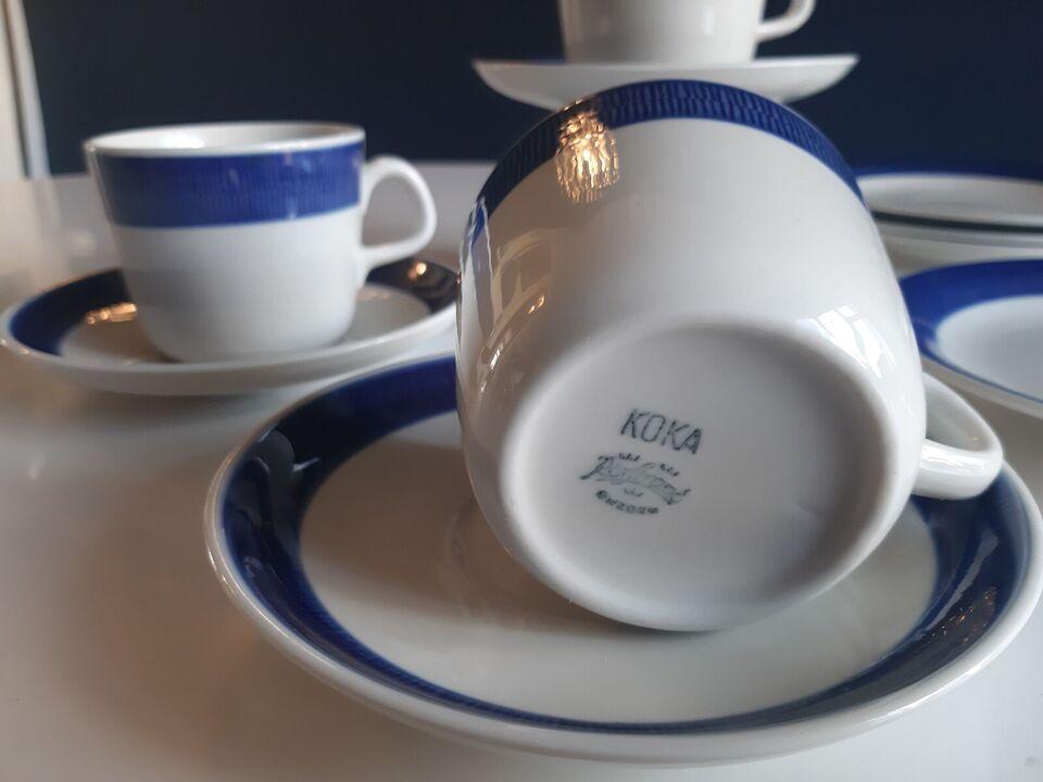 Porcelæn, Kaffe kopper med underkopper samt