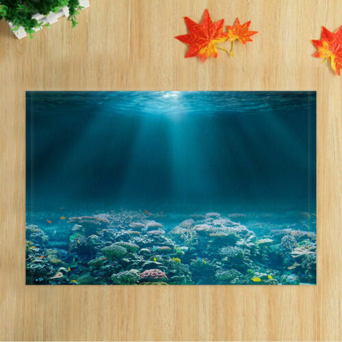 Ocean Shower Curtain for Bathroom Coral on Seabed with Sunlight Seawater 71in
