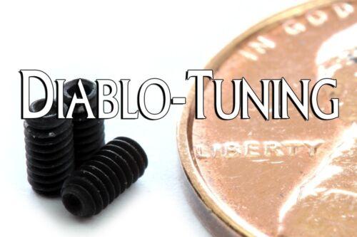 DIN 916 CUP Point Socket SET SCREWS Black Alloy 45H Qty 10 M2-0.40 x 4mm