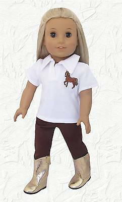 Doll Clothes 18 inch doll Horse Polo+Riding Pant B Compatible with American Girl