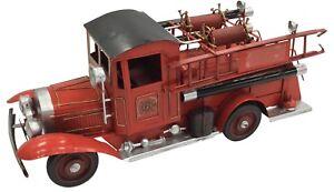 De-Coleccion-Clasico-Extra-Grande-Rojo-Fuego-Motor-Tin-Metal-40cm-longitud-Coleccionable