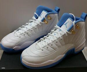 3ae51bac25d2b8 NEW NIKE AIR JORDAN 12 XII RETRO UNIVERSITY BLUE MELO GS 4Y 510815 ...