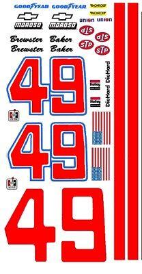 #49 Brewster Baker Chevy Short Track 1/64th Ho Scale Slot Car Decals Voor Snelle Verzending