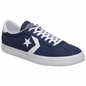 39993c35d89972 Converse Breakpoint Ox Midnight Navy White Mens Canvas Low-Top Retro ...