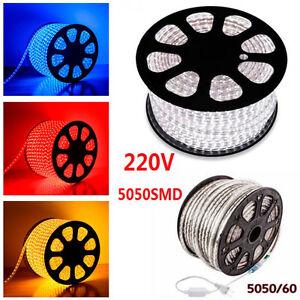 STRISCIA-STRIP-LED-BOBINA-SMD-5050-RGB-SPINA-220V-BIANCA-TUBO-ESTERNO-1-A-100-M