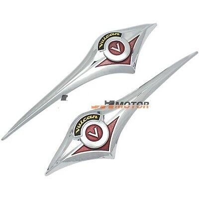 2X 3D Gas Fuel Tank Pad Sticker For Kawasaki Vulcan Classic Custom 2000 800 900