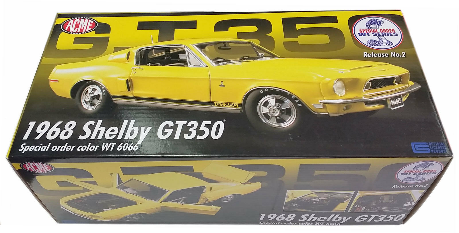 Acme 1   18 1968er ford mustang shelby gt350 gelb wt6066 ltd ed 1098 pcs a1805201
