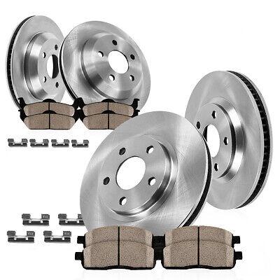 Front Rear Disc Brake Rotors Kit 2013-2017 Cadillac ATS