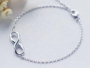 Das Bild wird geladen Armband-Armkette-925-Silber-Infinity -Unendlichkeit-Damen-NEU 3657a94e53