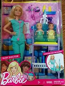 Barbie Baby Doctor Playset Medical Play Set New