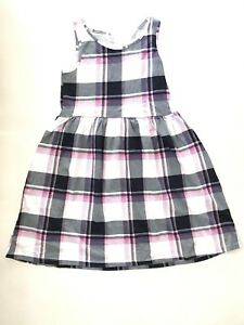 0a8589524b0 Girls H M Dress w  Plaid Blue Pink   Purple Cotton Sleeveless Dress ...