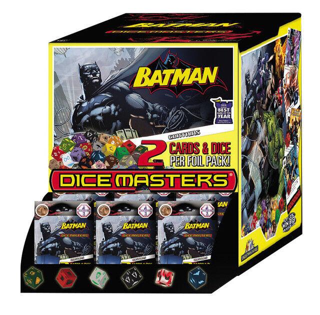 DC DICE MASTERS BATTMAN (2) 90 COUNT (180 PC) GRAVITETSFÖRFARANDE FALL SEBLERAD NY