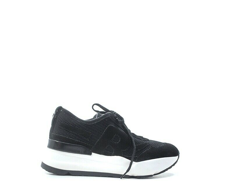 Rucoline shoes woman black suede, fabric 4009-83352-1bl