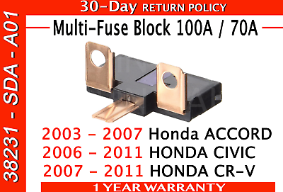 100A//70A Genuine Honda 38231-SDA-A01 Multi Block New Fuse A Free Ship