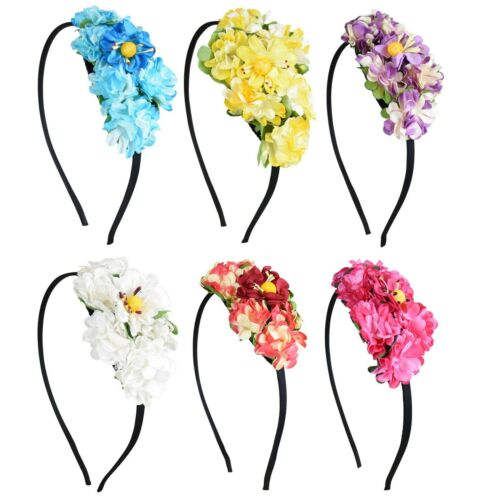 Hard Headband w// Flower Cluster Cute Girl/'s Teens Hair Band w//Teeth Great Colors