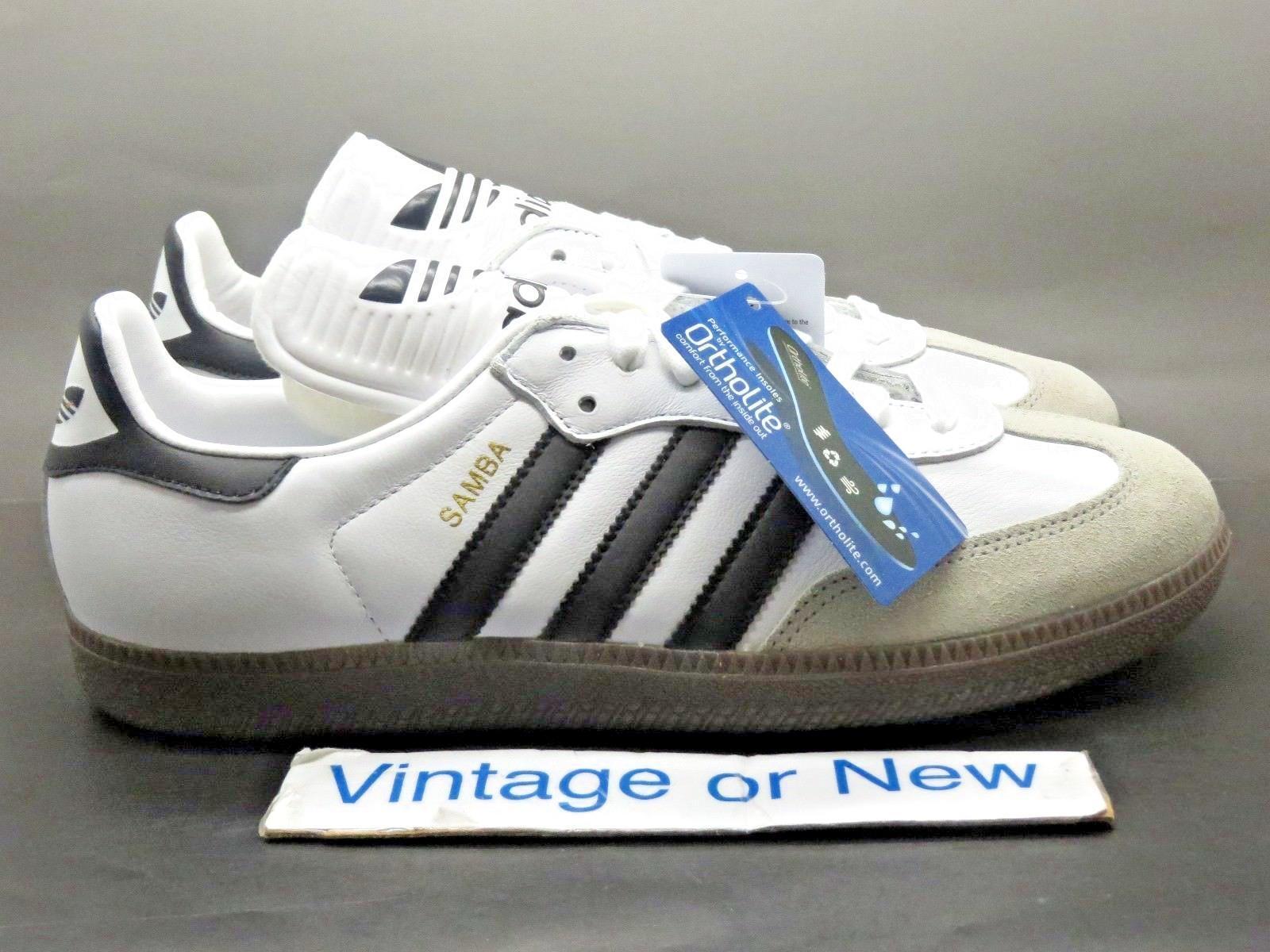Men's Adidas Samba Classic OG White Black Gum BZ0225