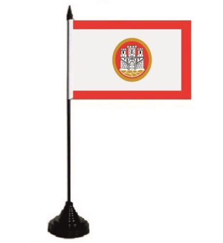 Tischflagge Bergen Norwegen Tischfahne Fahne Flagge 10 x 15 cm