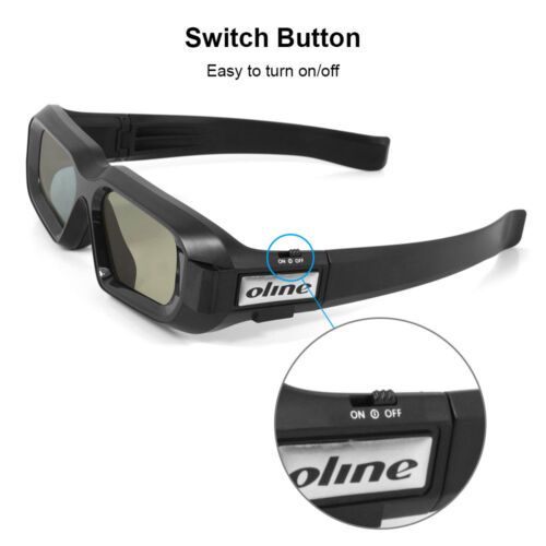 Active Shutter 3D Glasses Bluetooth for Samsung//Sony//Epson 3D Tvs USB Charging