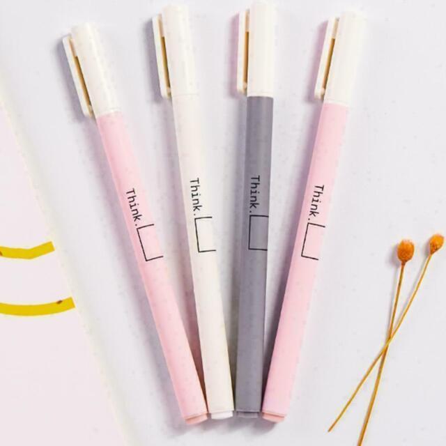 1Pc Cute Kawaii Fun Black Gel Ink Pens Roller Needle 0.38mm Fine Cat Pen Ko D0J7