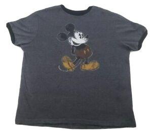 Disney-Parks-para-hombre-Camiseta-Talla-XL-Gris-Mickey-Mouse