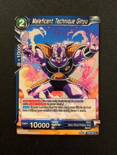 Maleficent Technique Ginyu BT8-037 C Blue Dragonball Super TCG