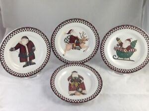 Image is loading Sakura-Debbie-Mumm-Christmas-Holiday-Santa-039-s- & Sakura Debbie Mumm Christmas Holiday Santau0027s Spirit Salad Dessert ...