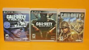 PS3-Sony-Playstation-3-GAME-Lot-Call-of-Duty-3-Ghosts-Black-Ops-Tested