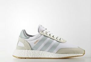 NEW Adidas Originals BY9092 WOMEN'S INIKI RUNNER WHITE/GREEN/CARAMEL SHOES US7