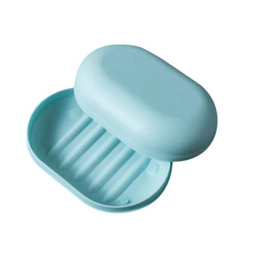 Casual Plastic Bathroom Shower Soap Box Tray Storage Holder Plate Travel E38